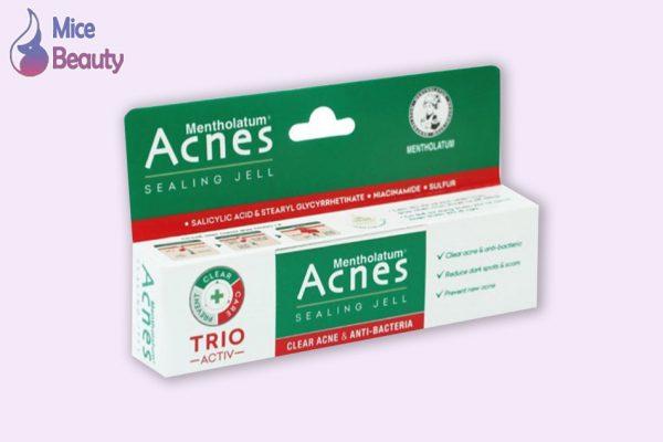 Hình ảnh hộp sản phẩm Acnes Sealing Jell