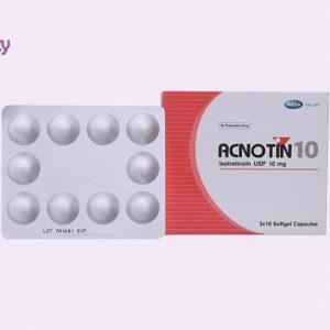 Dạng đóng gói của thuốc Acnotin 10mg