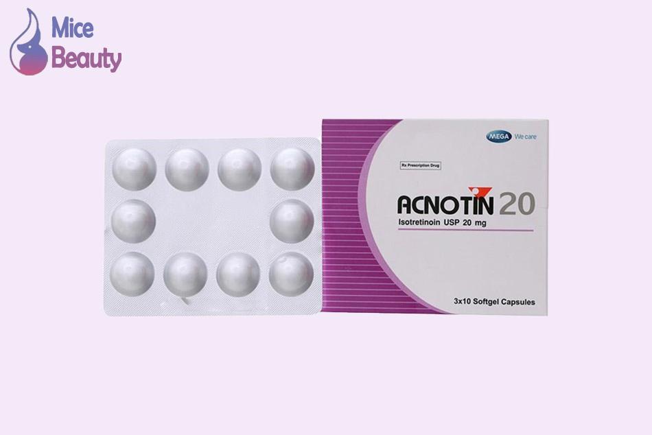 Dạng đóng gói của thuốc Acnotin 20mg