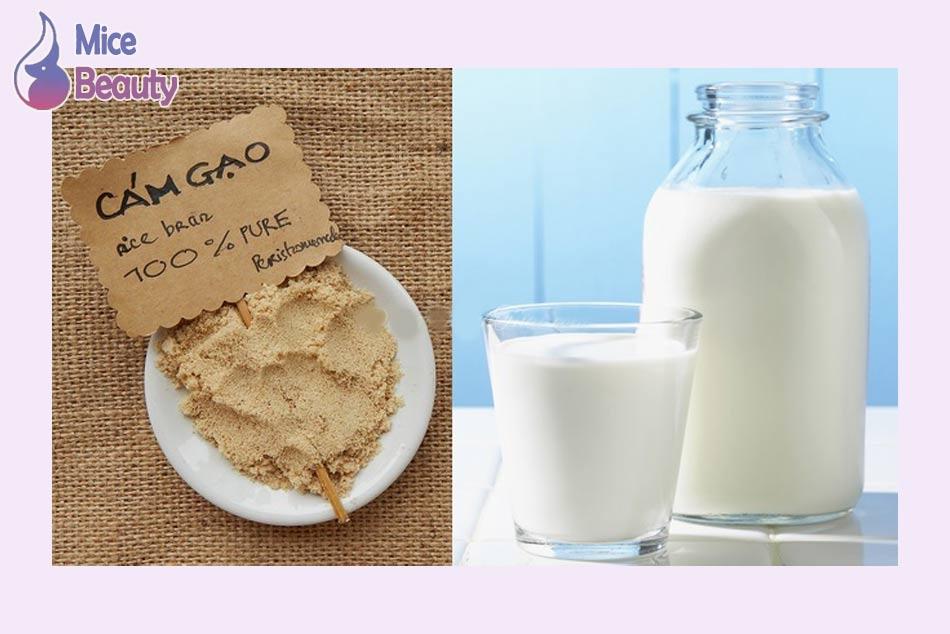 Tắm trắng bằng cám gạo và sữa tươi (sữa non)