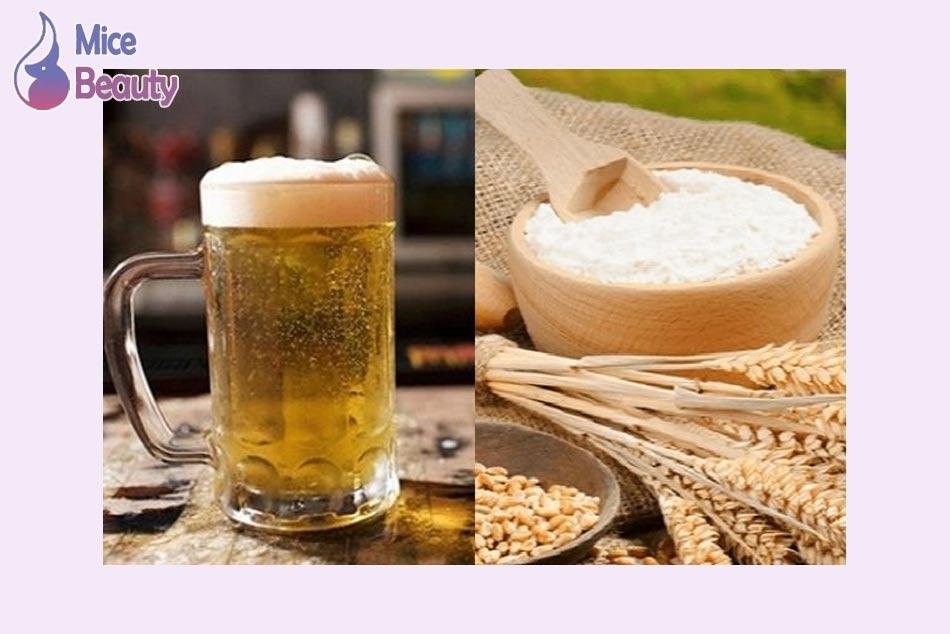 Tắm trắng bằng cám gạo và bia