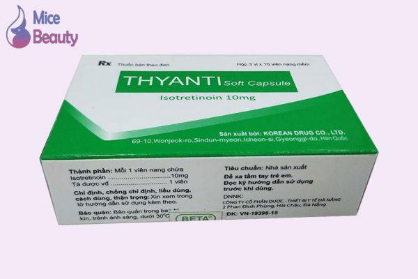 Hình ảnh hộp thuốc Thyanti