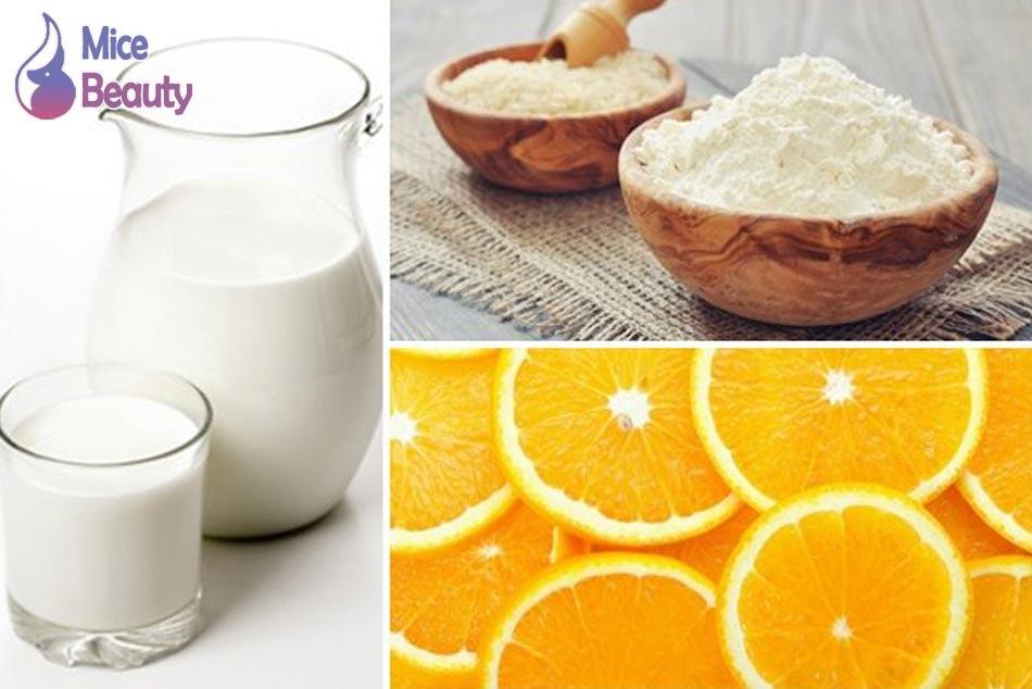 Sử dụng mặt nạ bột yến mạch trị mụn, thâm khi kết hợp với sữa tươi và chanh