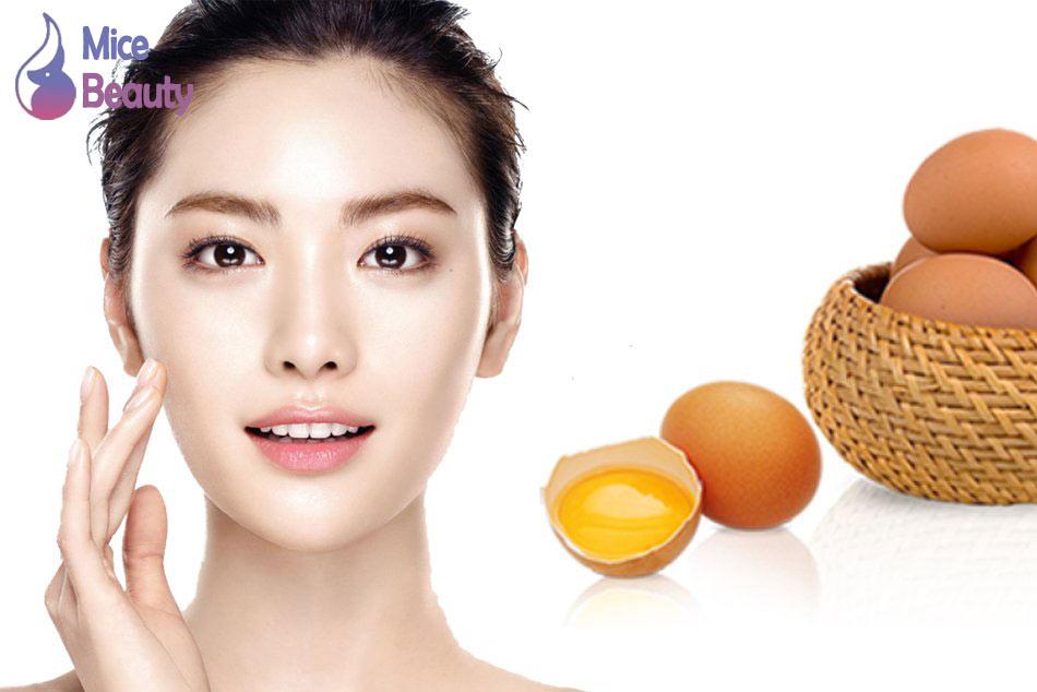 Trứng gà - Da căng bóng, ẩm mịn với nguyên liệu tự nhiên