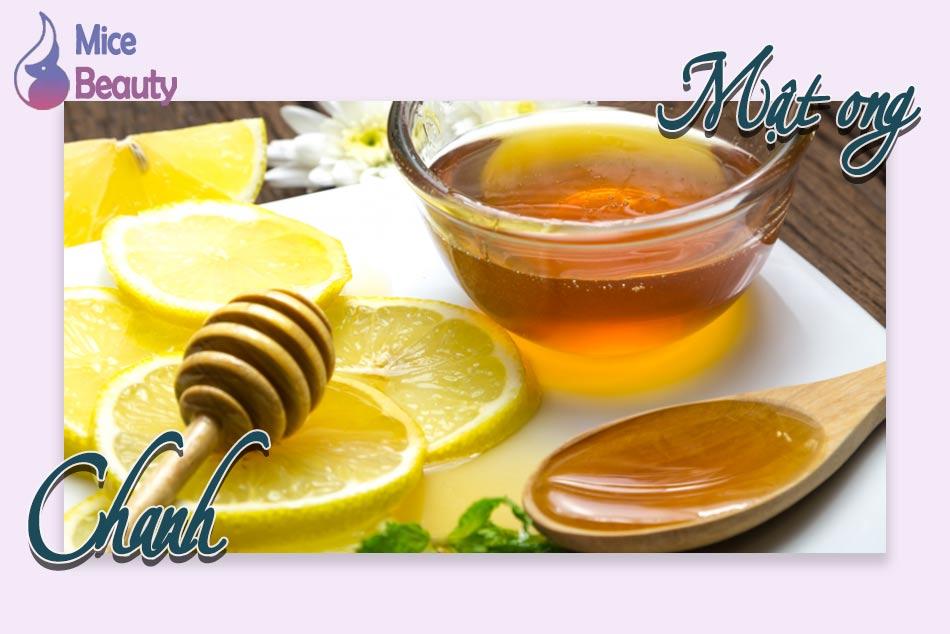 Trị thâm mụn bằng mật ong và chanh đơn giản tại nhà