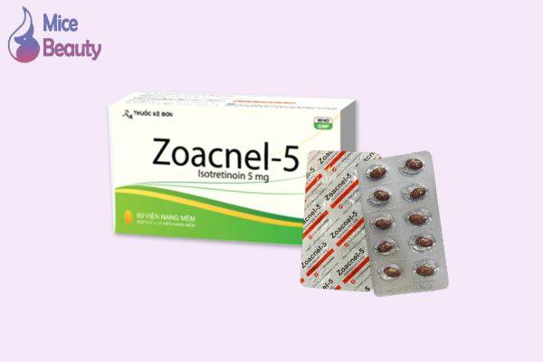 Dạng đóng gói của thuốc Zoacnel 5mg