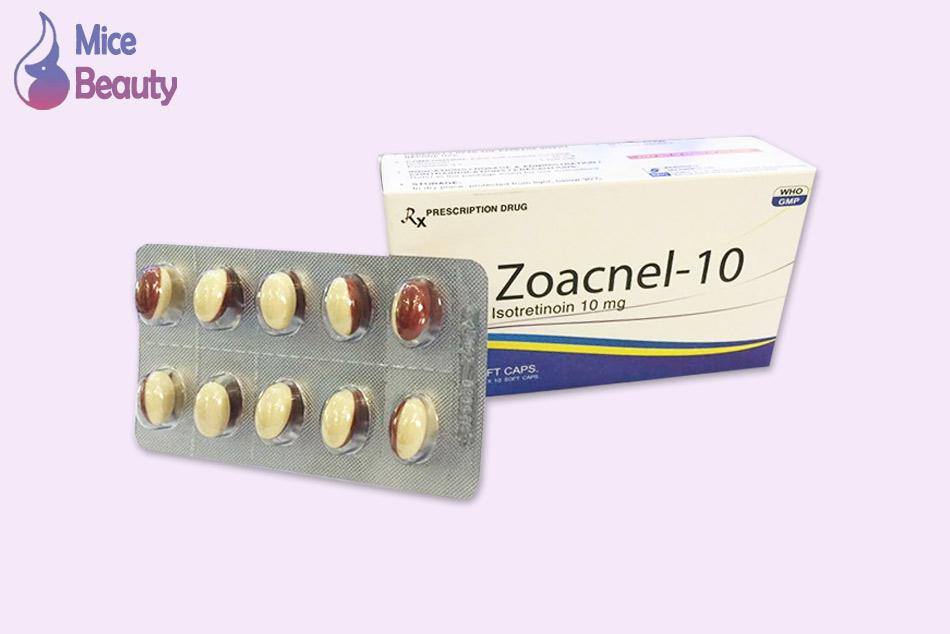 Dạng đóng gói của thuốc Zoacnel 10mg