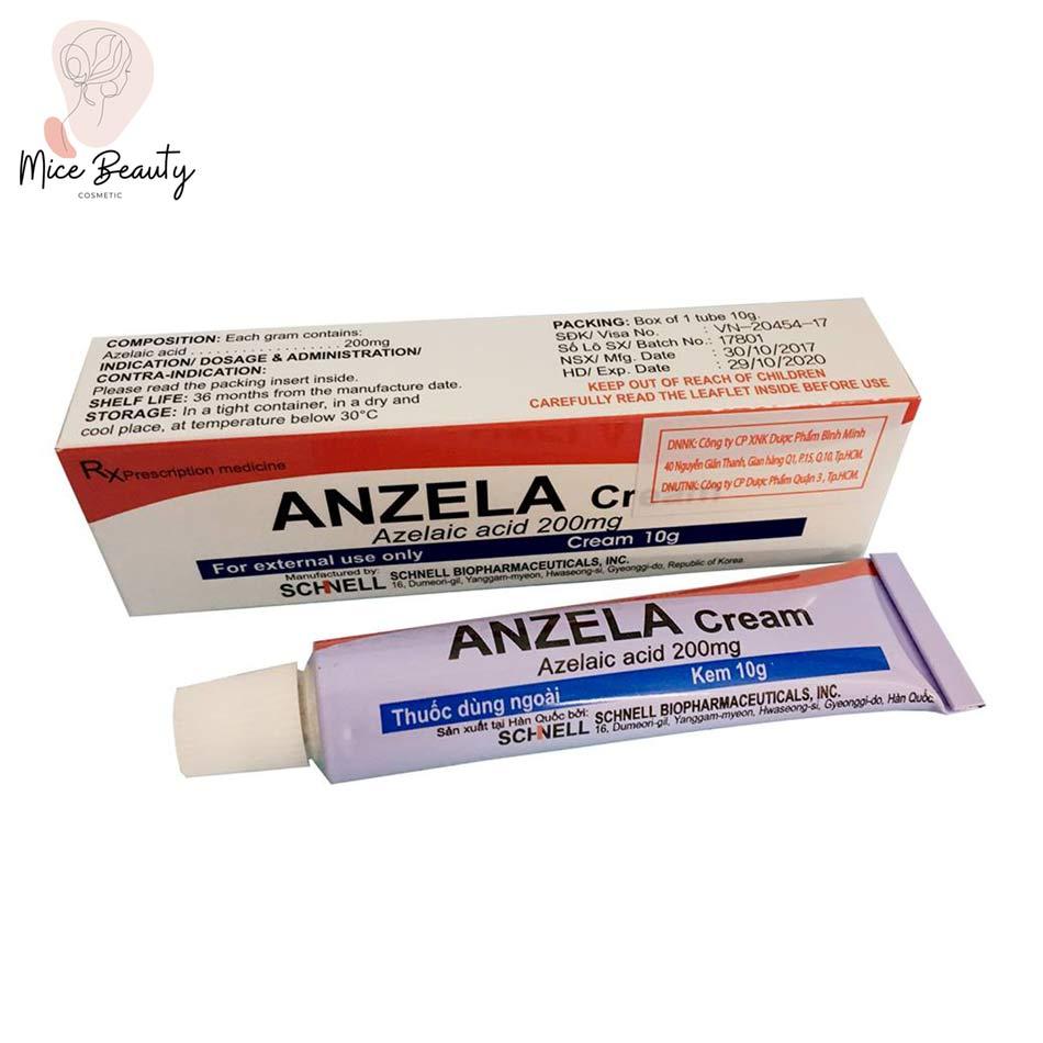Dạng đóng gói của sản phẩm Anzela Cream