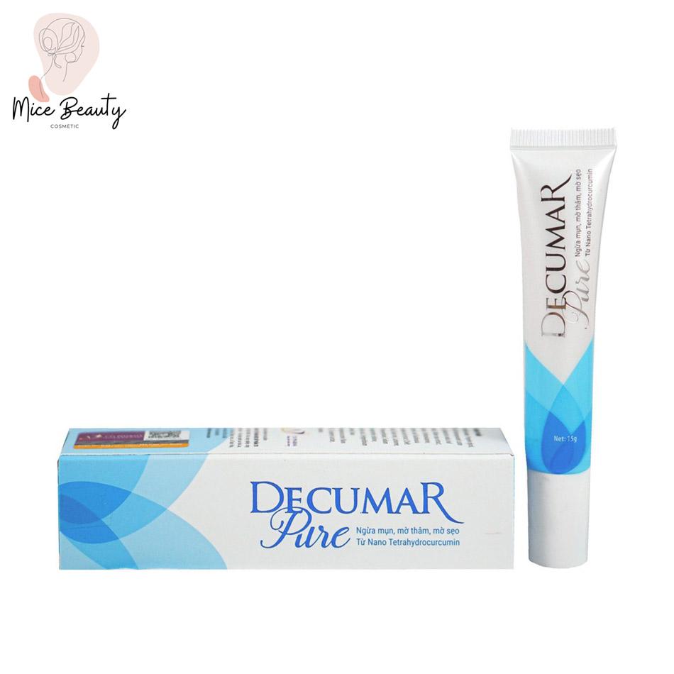 Dạng đóng gói của kem trị mụn Decumar Pure