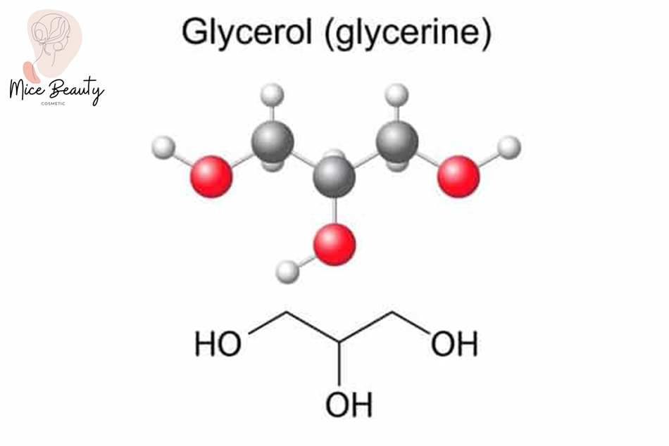 Công thức cấu tạo của Glycerin