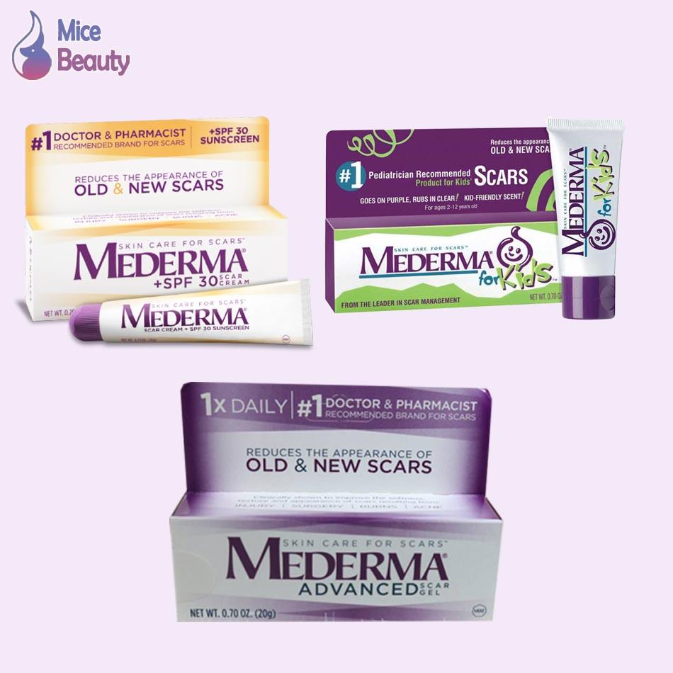 Các dạng sản phẩm Mederma