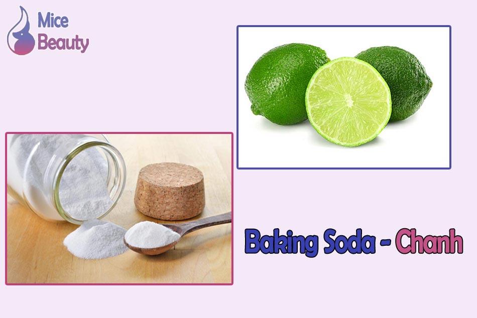 Kết hợp chanh và baking soda để trị thâm mông