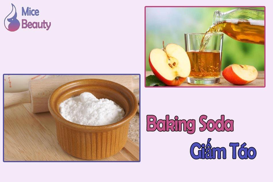 Kết hợp giấm táo và baking soda để trị thâm nách