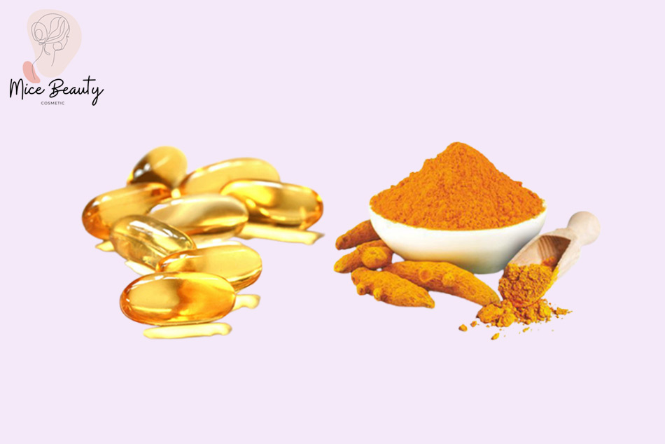 Cách đắp mặt nạ vitamin E với bột nghệ