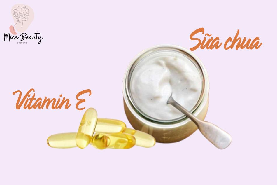 Cách đắp mặt nạ vitamin E với sữa chua cho da nhờn