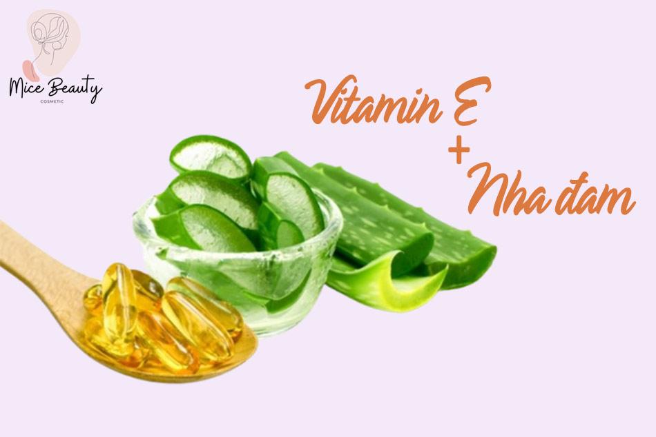 Cách đắp mặt nạ vitamin E với nha đam