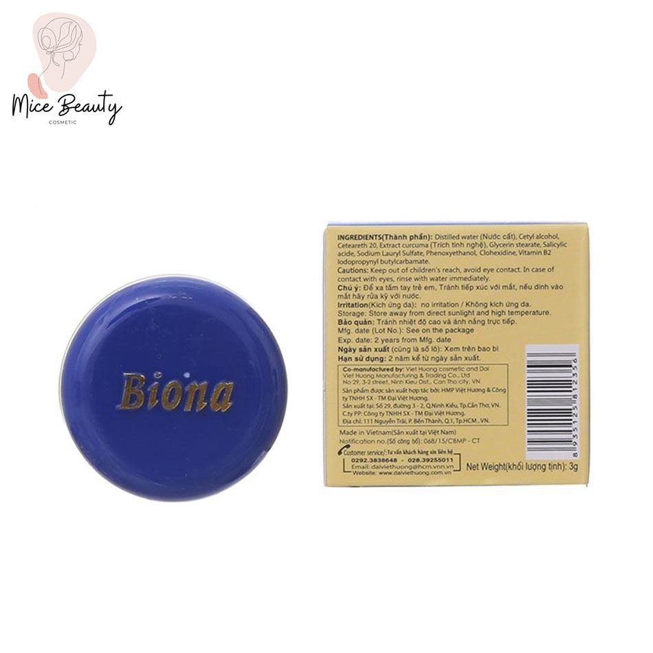 Dạng đóng gói của sản phẩm kem nghệ Biona
