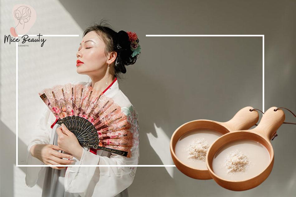Làm đẹp bằng nước vo gạo của người Nhật