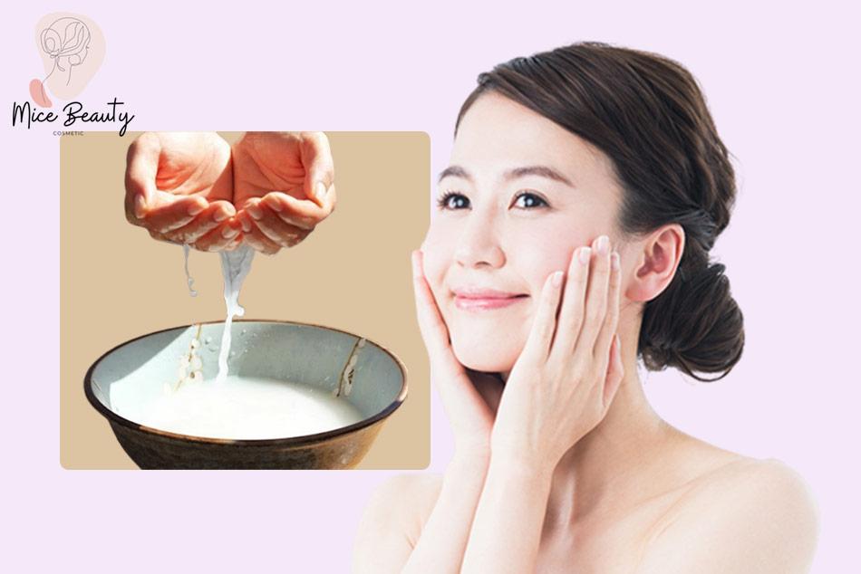 Sử dụng nước vo gạo trị mụn hiệu quả