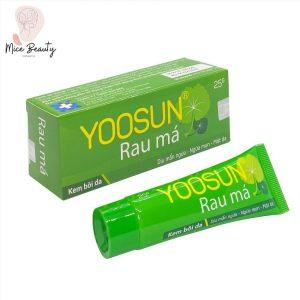 Dạng đóng gói của kem trị mụn Yoosun Rau má