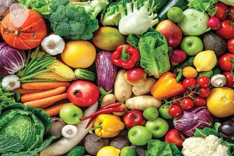 Ăn nhiều chất xơ, thực phẩm giàu vitamin để cung cấp dưỡng chất cho da