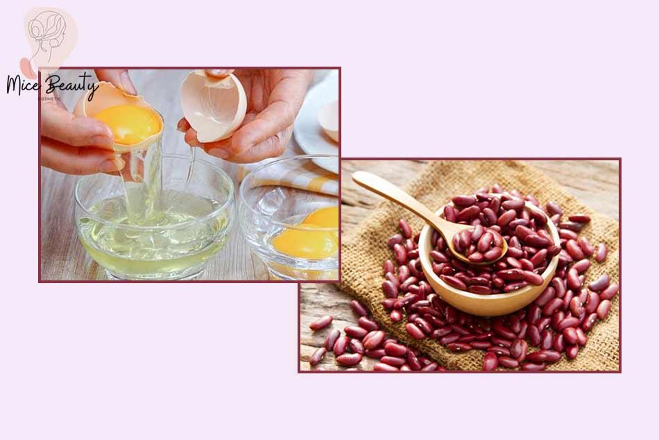 Kinh nghiệm dùng bột đậu đỏ với trứng gà trị mụn
