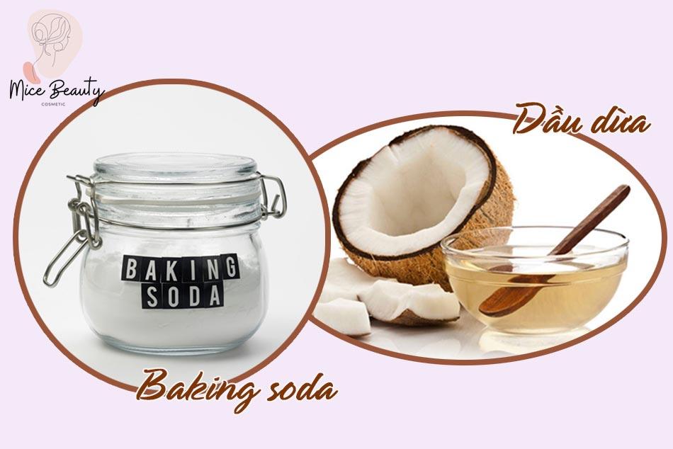 Mẹo sử dụng dầu dừa và baking soda trị mụn đầu đen