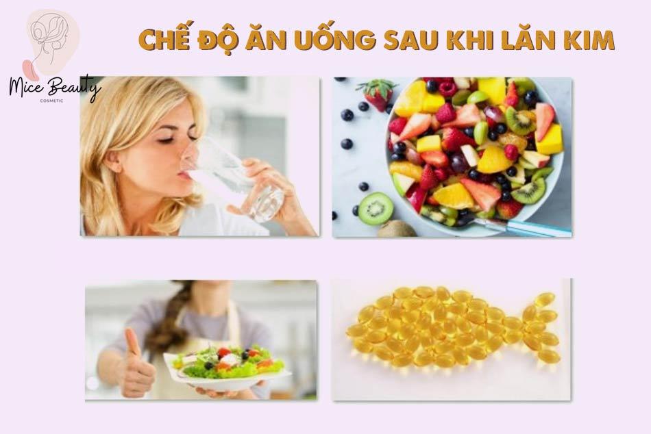 Chế độ ăn uống, sinh hoạt sau khi lăn kim