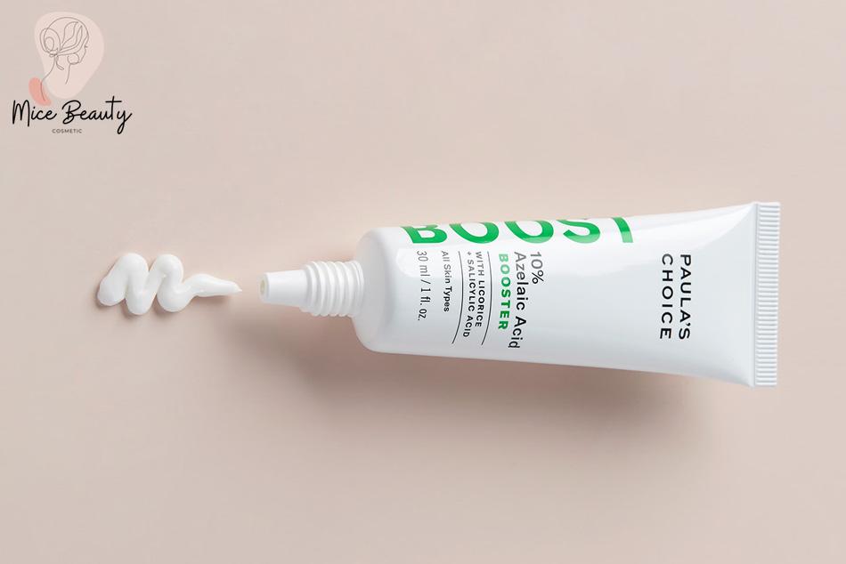 Sản phẩm có chứa thành phần Acid azelaic điều trị mụn ẩn