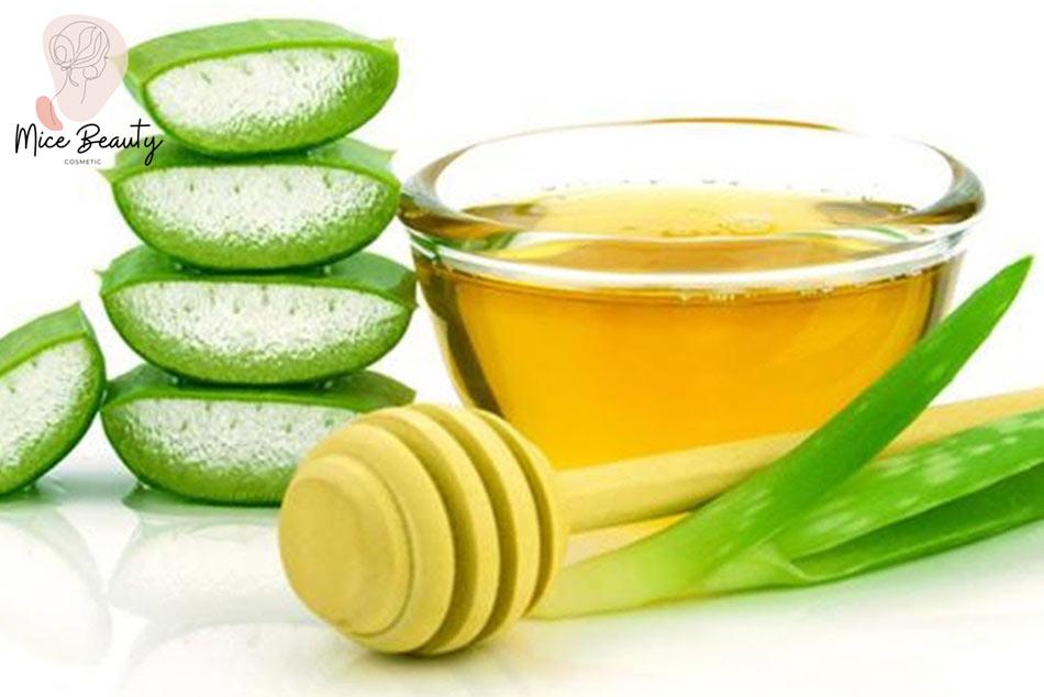 Kết hợp nha đam và mật ong giúp trị mụn hiệu quả