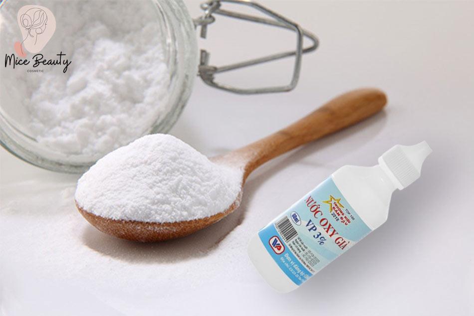 Kết hợp của Baking Soda và Oxy già trị sẹo lồi