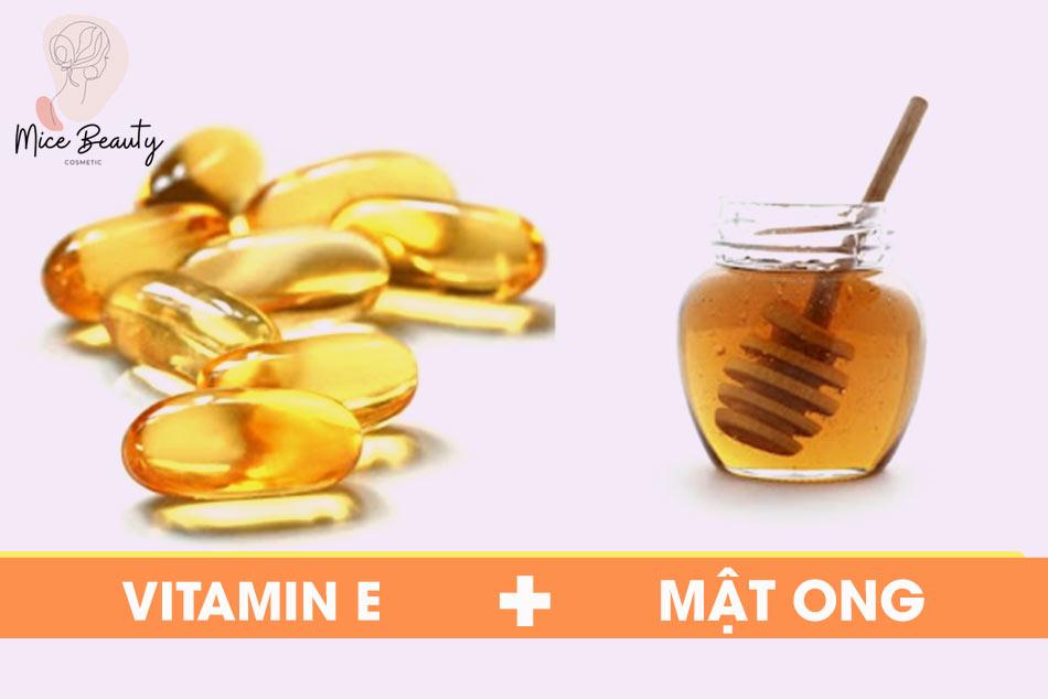 Mẹo trị sẹo lõm bằng mật ong và vitamin E