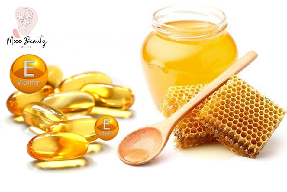 Kết hợp vitamin E và mật ong để trị mụn