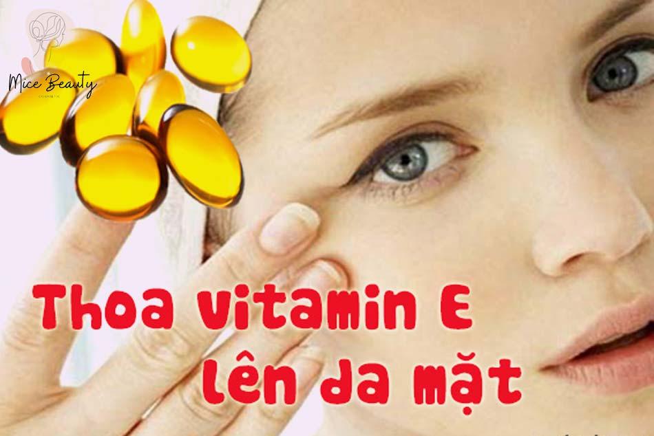Làm mờ sẹo mụn trứng cá bằng tinh chất Vitamin E