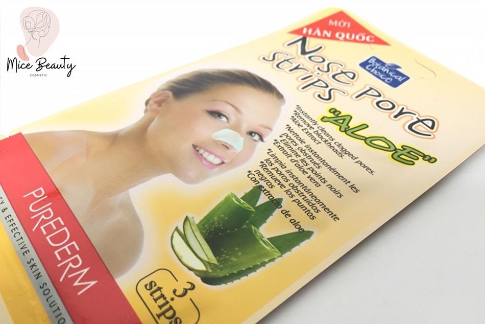 Mặt Nạ Lột Mụn Cám Mũi Nha Đam Nose Pore Strips Aloe