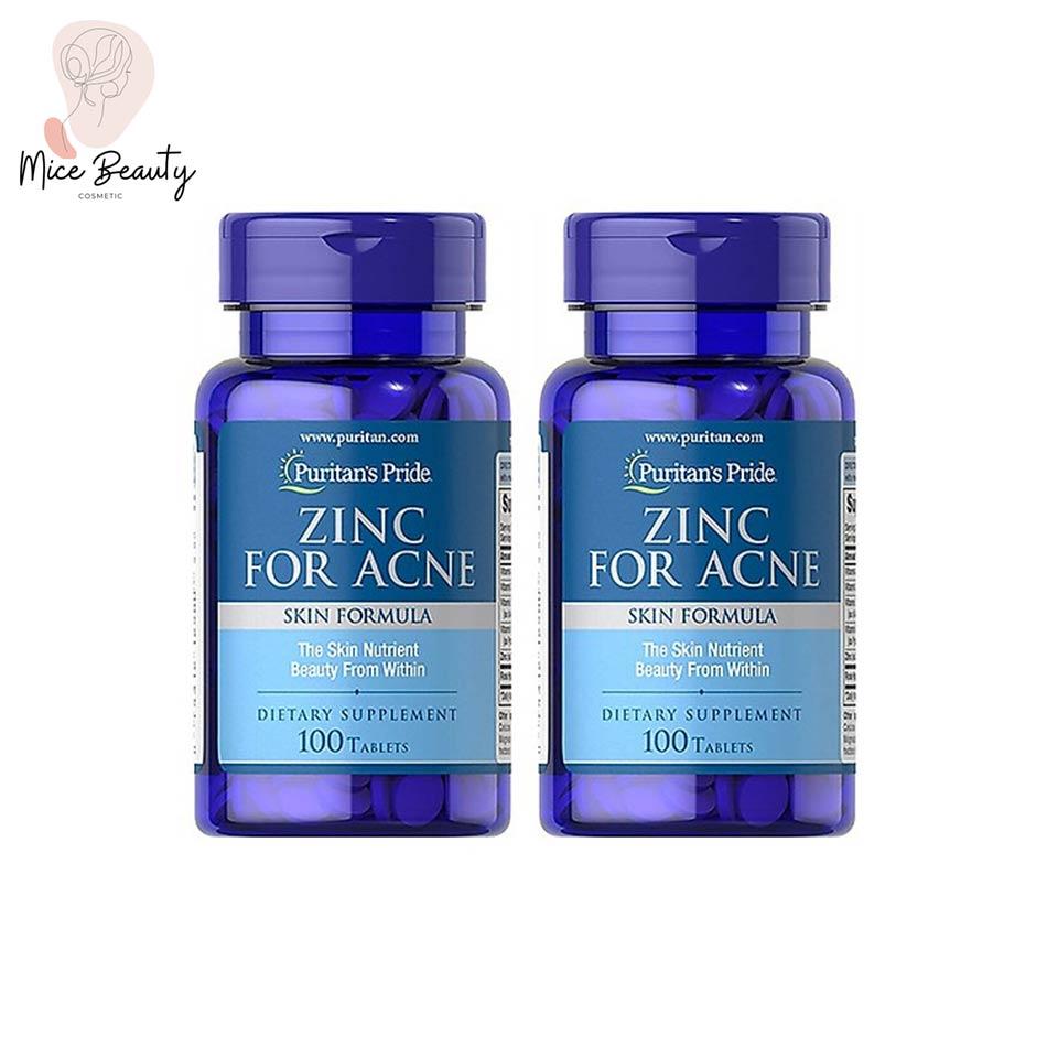 Hình ảnh lọ viên uống Zinc for acne